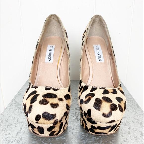 937db35f9991 Steve Madden Shoes   Pammy Calfs Hair Leather Leopard   Poshmark